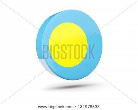 Round Icon With Flag Of Palau