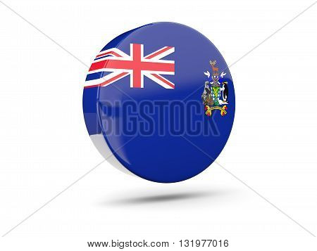 Round Icon With Flag Of South Georgia And The South Sandwich Islands