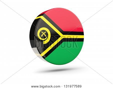 Round Icon With Flag Of Vanuatu