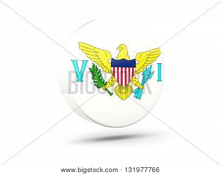 Round Icon With Flag Of Virgin Islands Us