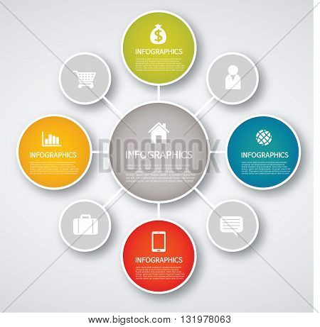Vector Illustration: info graphics - colorful graph, circle