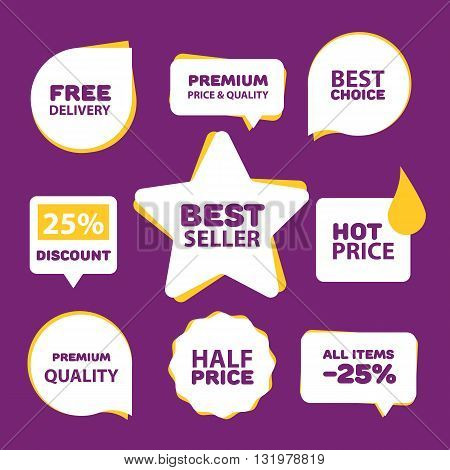 Sale sticker. Discount sticker. Vector sale sticker. Isolated sticker. Sale sticker flat vector illustration. Exclusive product sticker. Special offer sticker in modern style. Sale sticker set. Best price tag. Sale. Sale tag vector isolated. Sale banner s