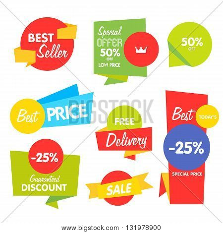 Sale tag with special ad offer. Half price sale tag. Best price tag. Sale tag. Discount offer. Advertisement tag. Vector illustration of sale tag. Design of ad offer. Special offer sale tag. Template sale tag. Discount tag. Sale offer. Promo sale tag. Tag