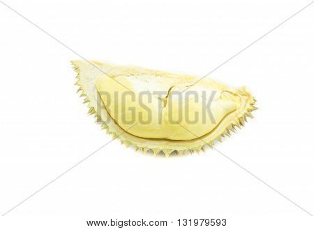 durian on white background , king of fruit