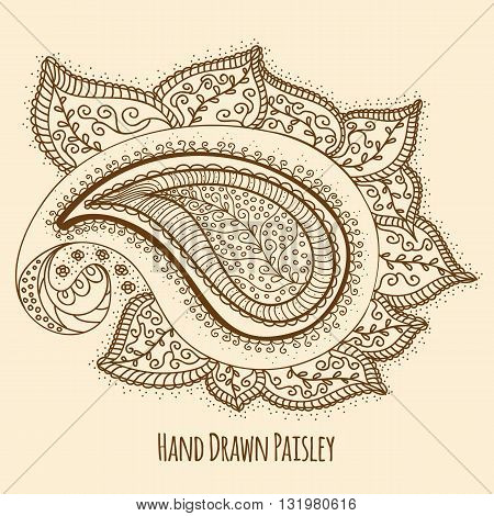 Elegant Hand Drawn Paisley. Easy to manipulate, re-size or colorize