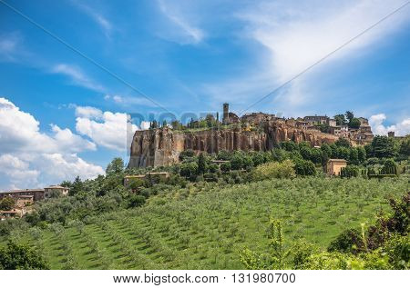 Highly detailed panoramic view of Orvieto Umbria Italy
