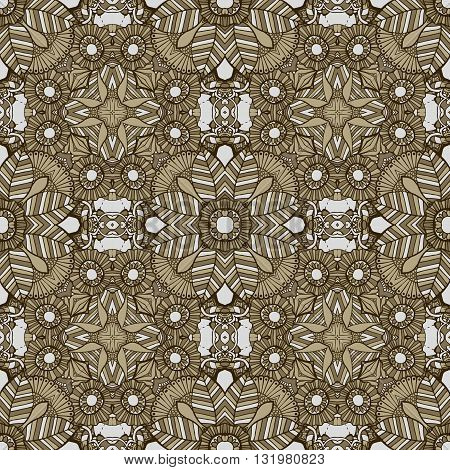 Cute Mexican stylized talavera tiles seamless pattern. Background for design and fashion. Arabic, Indian patterns