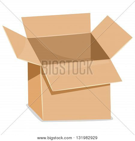 Vector Illustration of an Open Paper Box
