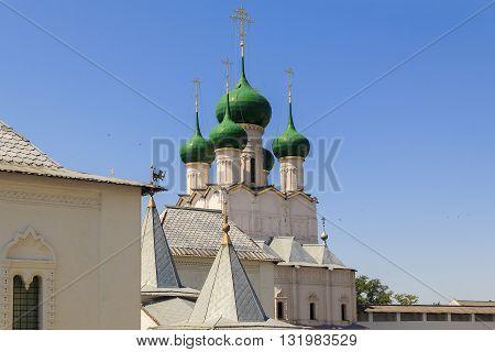 ROSTOV, RUSSIA - JUNE 3, 2013: Rostov Kremlin. This is the church of St. John the Evangelist.