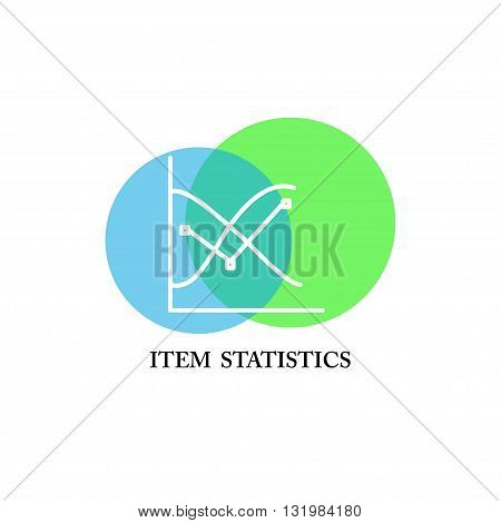 Vector item statistic logo isolated on white background. Artistic colorful design concept. Flat simple logo for item statistic, training, class, card, net work, illustration, education, flyer, banner.