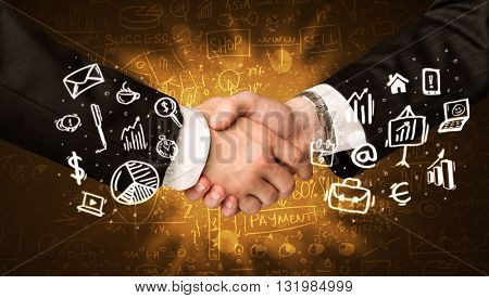 Handshake with glowing background