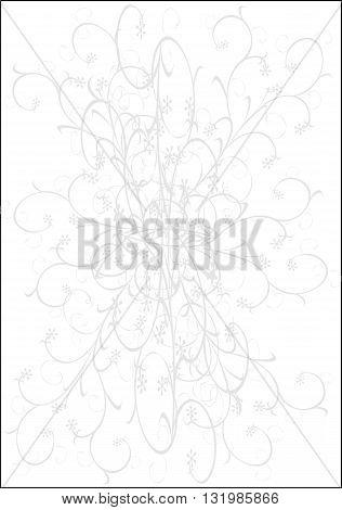 Gray floral background  - modern vector illustration.