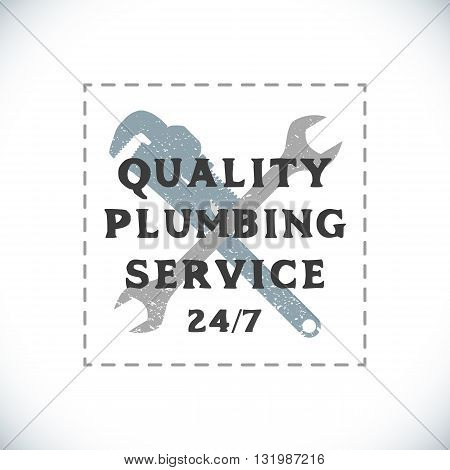 Color Plumbing Service Sign Template.