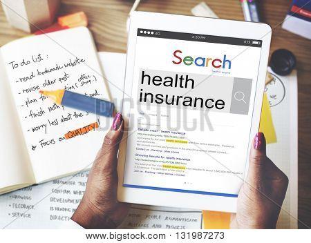 Health Insurance Illness Security Healthcare Concept