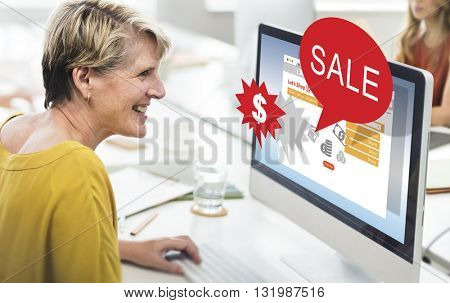 Sale Commerce Discount Sell Selling Promotion Concept