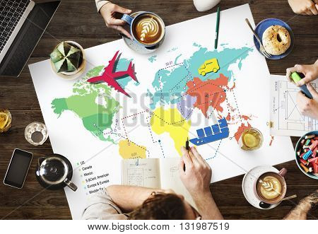 Travel Travelling Map Route Journey Concept