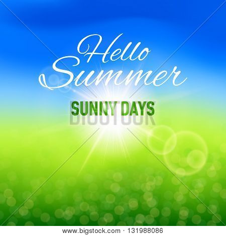 Blurred sunny background for your summer design