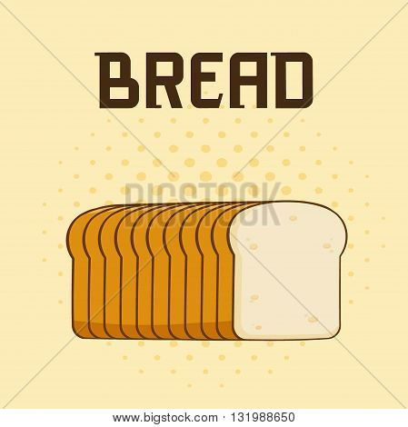 Cartoon Bread Loaf Poster Design With Text. Illustration Background