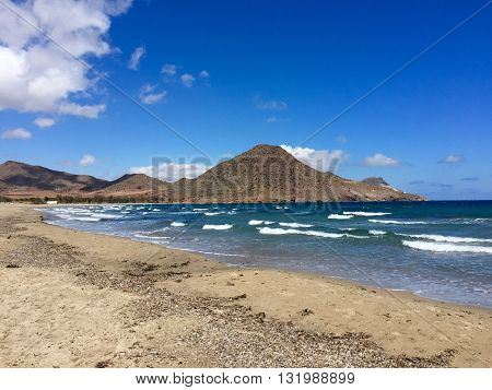 BEACH OF THE NATIONAL PARK CABO DE GATA- NIJAR, ALMERIA PROVINCE, SPAIN
