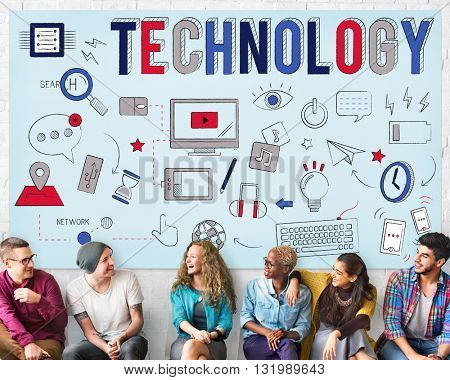 Technology Digital Communication Multimedia Device Concept