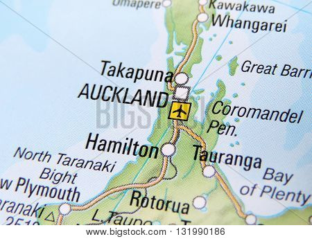 Map of Auckland, New Zealand. New Zealand map.