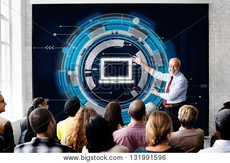 Computer Information Technology Connection Concept