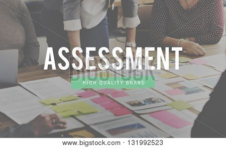 Assessment Evaluation Analytics Review Concept