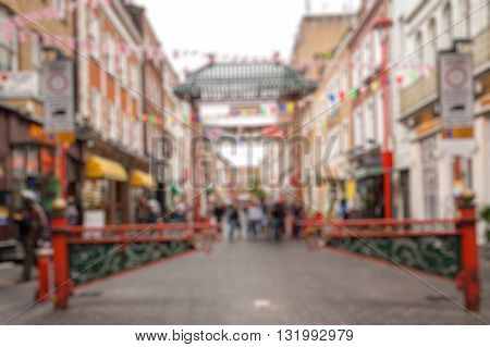 Abstract blurry background : London China Town