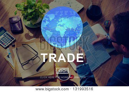 Trade Barter Commerce Exchange Merchandise Concept