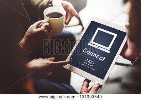 Connect Online Internet Social Media Concept