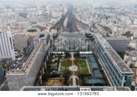 Paris, France - November 29, 2013: Aerial View Of Paris From Maine-montparnasse Tower