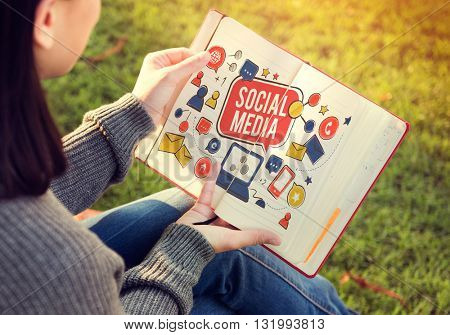Social Media Networking Communication Connection Technology Concept