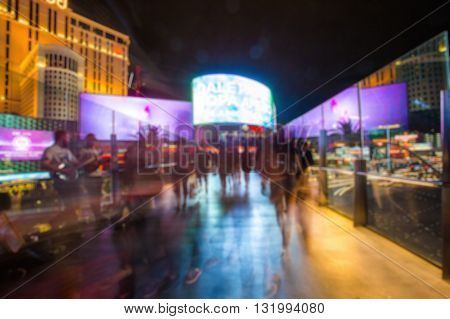 Abstract Blurry Background: Tourist In Las Vegas