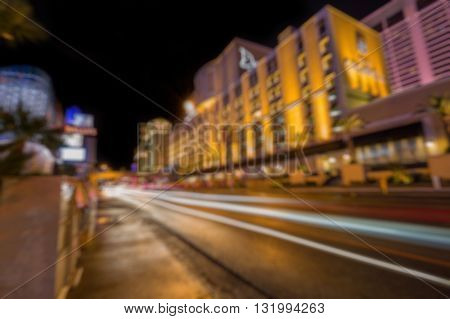 Abstract Blurry Background: City Life In Las Vegas