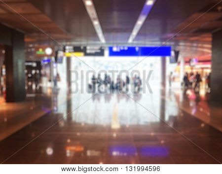 Abstract Blurred Background : Airport Boarding Area