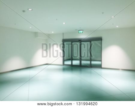 Abstract Blurry background :  Hospital interior corridor