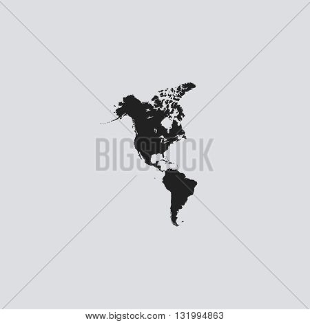 America icon vector. America logo. America sign. America icon UI. America icon web - stock vector.
