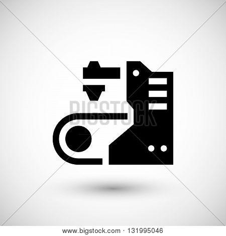 Conveyor equipment icon isolated on grey. Vector illustration