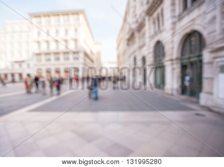 Abstract Blurry background :  city and people urban scene