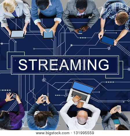 Streaming Online Internet Technology Concept