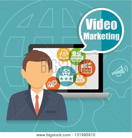 Video Marketing Advertising Analytics Business Concept Infographic