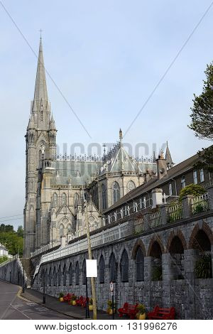road to cobh cathedral in county cork ireland
