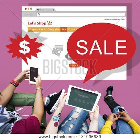 Online Shopping Marketing Sale Promotion Concept