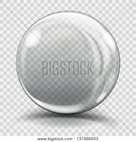 Big Gray Glass Sphere