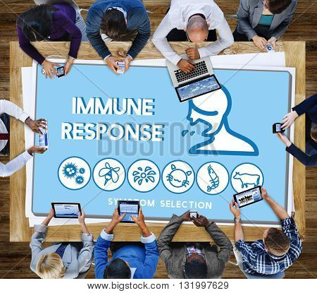 Immune Response Allergy Disorder Sickness Healthcare Concept