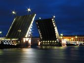 The Palace Bridge In St.Petersburg.