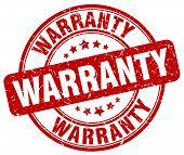 Warranty Red Grunge Round Vintage Rubber Stamp.warranty Stamp.warranty Round Stamp.warranty Grunge S poster