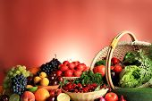 stock photo of fruits vegetables  - Fresh Vegetables - JPG