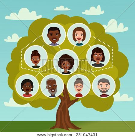 Big Family Tree With People