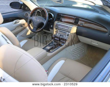 Luxury Car Convertible Interior 1